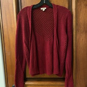 Lucky Brand maroon/red cardigan sweater